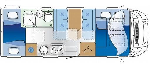 autoroller 2 ii wohnmobil mieten by caravan holidays. Black Bedroom Furniture Sets. Home Design Ideas